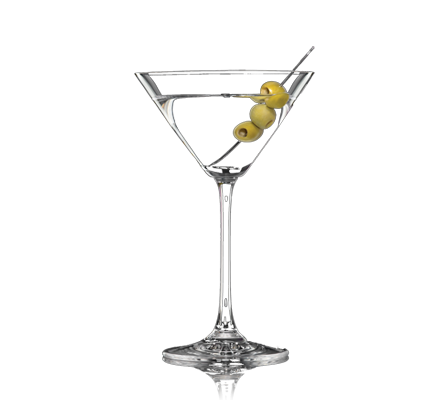 dirty gin martini with a twist