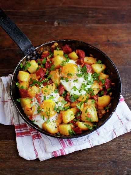 Chorizo and potato hash